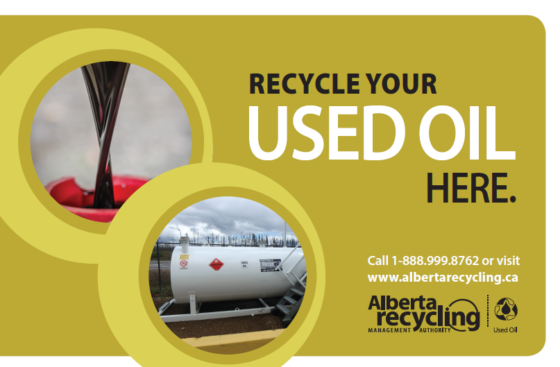 Alberta Recycling Used Oil Advertising